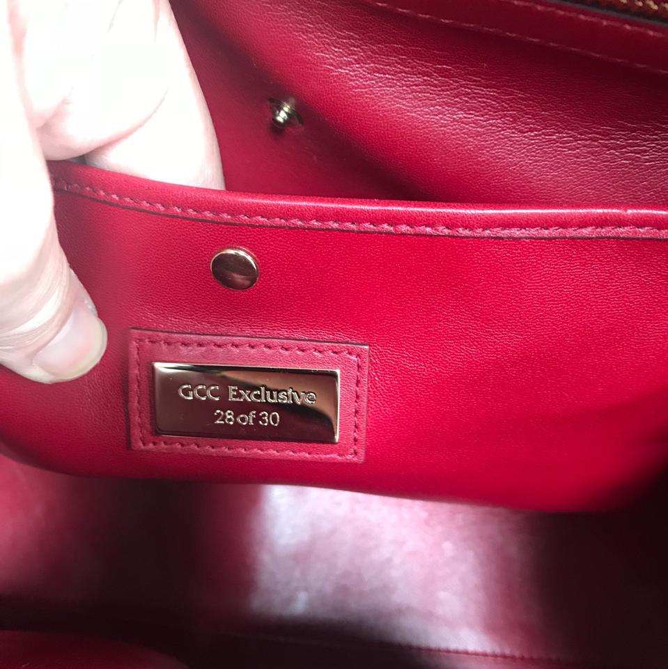 3466bd9e72e Gucci Stirrup Limited Edition Red Python Skin Leather Satchel - Tradesy
