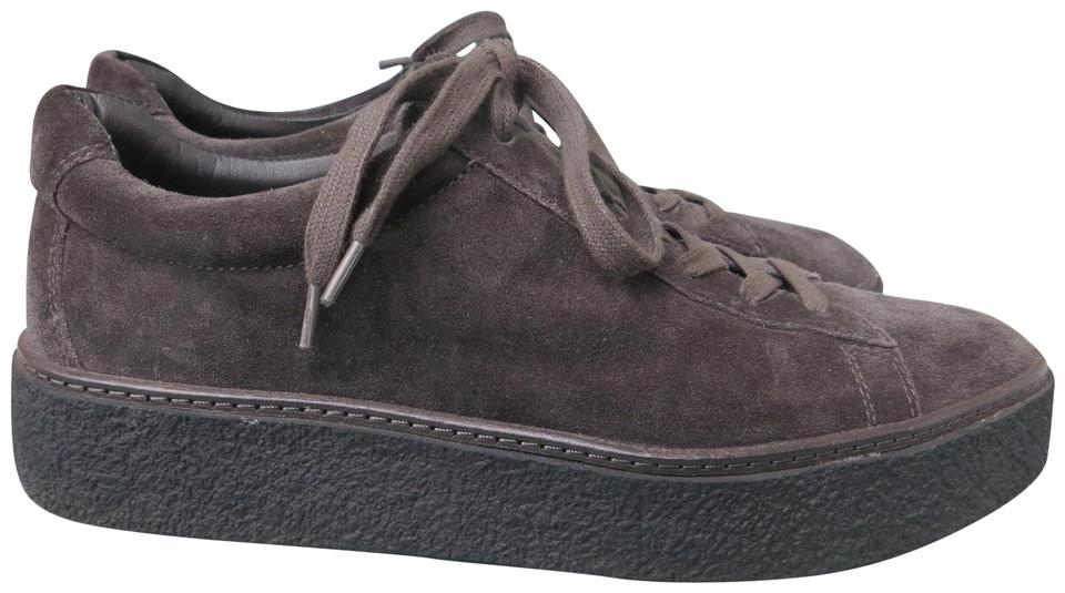 5163060ef65 Vince Neela Size 9.5 Suede Leather Sneakers Lace Up Gray Platforms Image 0  ...