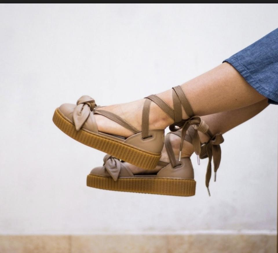 3d21fe0cb8d FENTY PUMA by Rihanna Espadrille Bow Creepers brown Sandals Image 10.  1234567891011