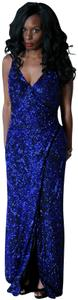 Sean Collection Vintage Beaded Wrap Gown Gown Dress