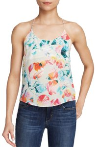 Townsen Keyhole Halter Tropical Print Top Multi