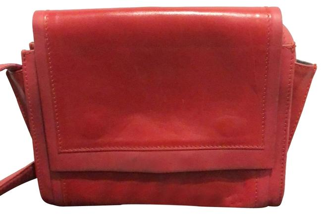 Item - Dark Red/ Silver Hardly Leather Cross Body Bag