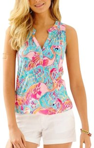 Lilly Pulitzer T Shirt multi peel and eat