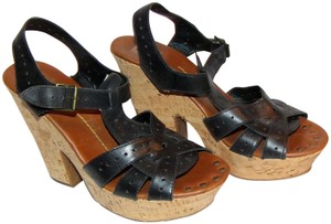 Dolce Vita Sandal Sandal Summer Fun Black & Brown Wedges