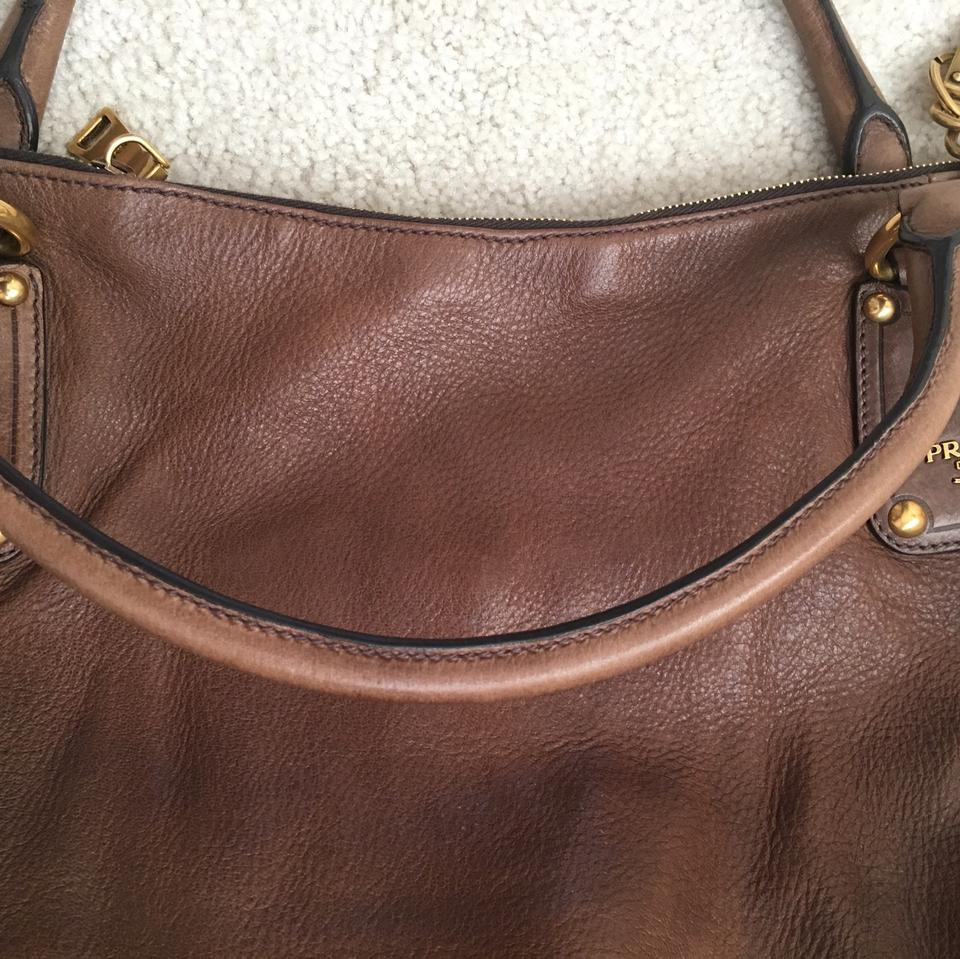 W Bag Strap Shine Crossbody Prada Cervo Hobo Noccioli Large U8qP8I7