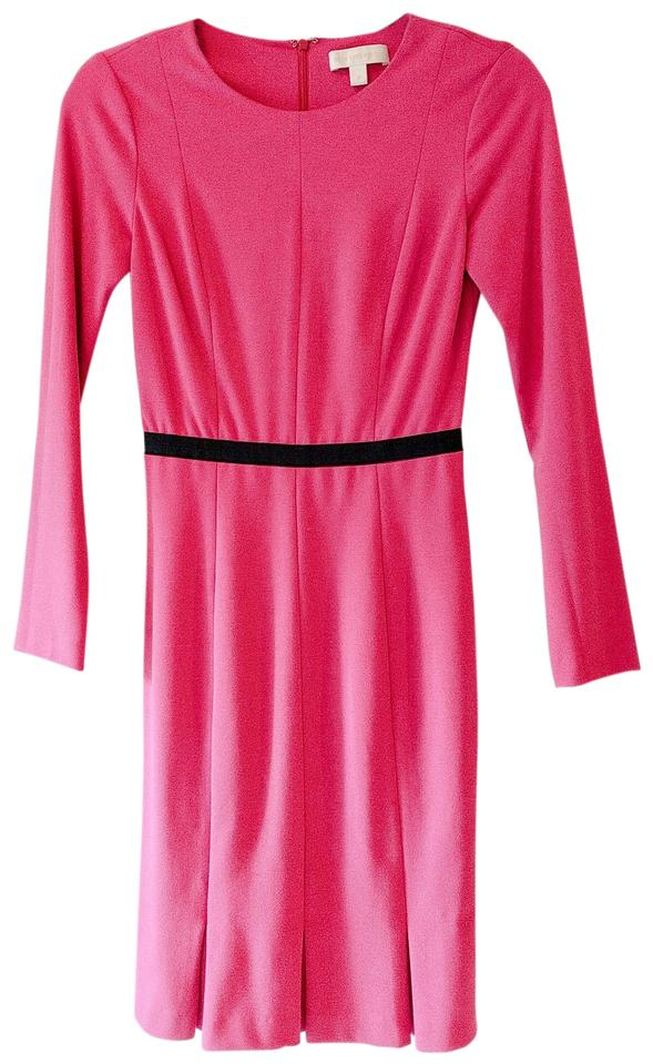fb2a9e430e1b Erin Fetherston Pink Edda Mid-length Work Office Dress Size 0 (XS ...