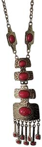 Artistry Bohemian, gold and red colored necklace