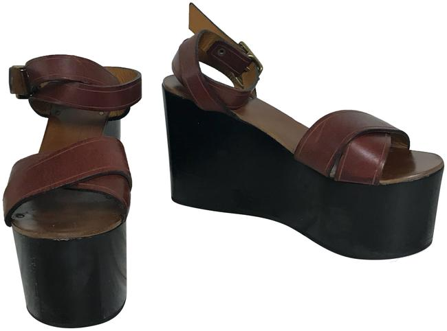 Item - Brown Zora La Garconne Leather Sandals Platforms Size EU 40 (Approx. US 10) Regular (M, B)