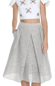 Tibi Skirt Ivory, Black