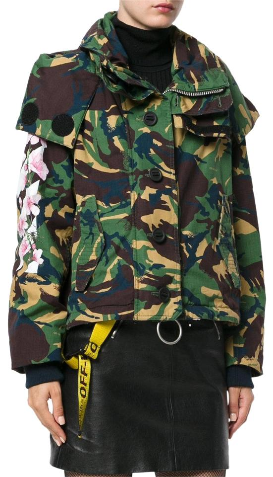 caf045c25d27c Off-White Camo Field Floral Industrial M65 Military Jacket Image 0 ...