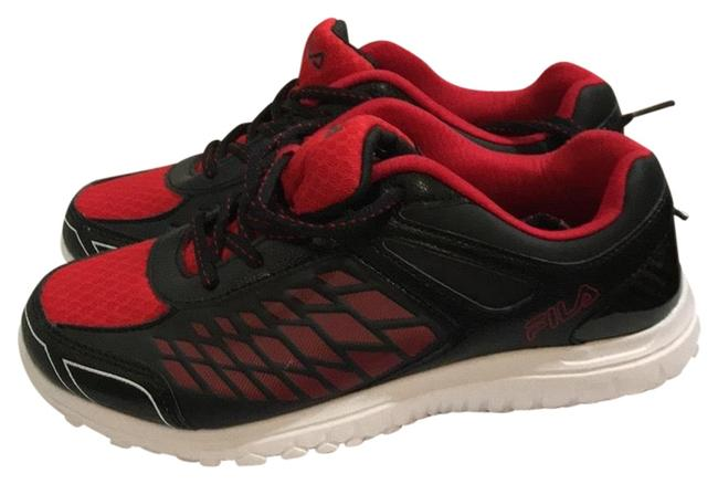 Item - Black and Red Sneakers Size US 5.5 Regular (M, B)