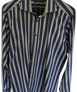 Etro Button Down Shirt Blue stripe Men's dress shirt