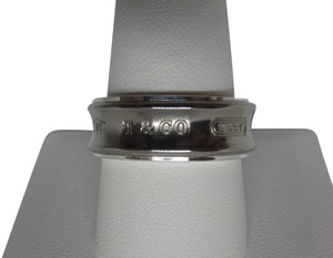 Tiffany & Co. 1837 Sterling Silver and grey Galaxy Titanium Ring Size 10