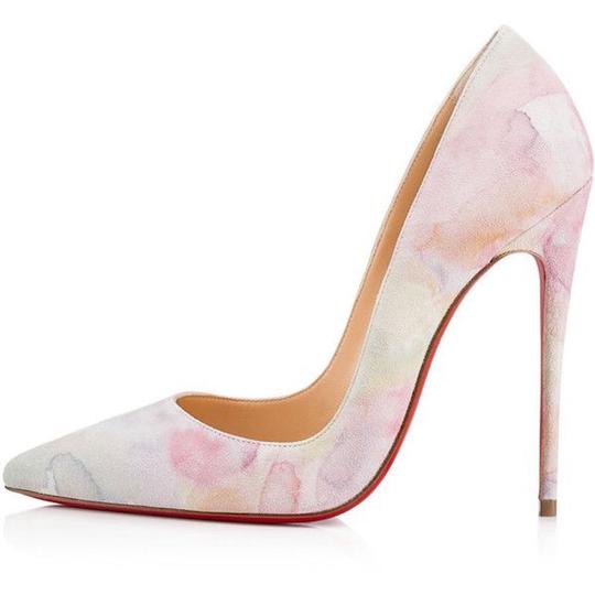 Christian Louboutin Sokate Kate Pigalle Stiletto Suede Pink Pumps Image 2