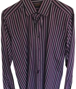 Etro Button Down Shirt purple stripes