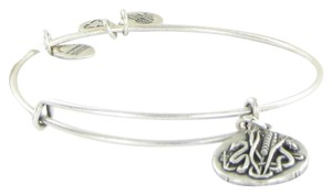 Alex and Ani Reed Snake Charm Bracelet Expandable Bangle Silver Rulers of Woods Car