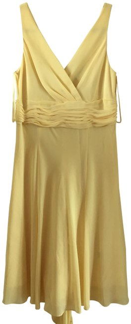 Preload https://img-static.tradesy.com/item/23461524/chaps-yellow-flared-mid-length-cocktail-dress-size-8-m-0-1-650-650.jpg