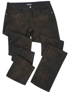 Chanel Couture Stiped Skinny Jeans-Dark Rinse
