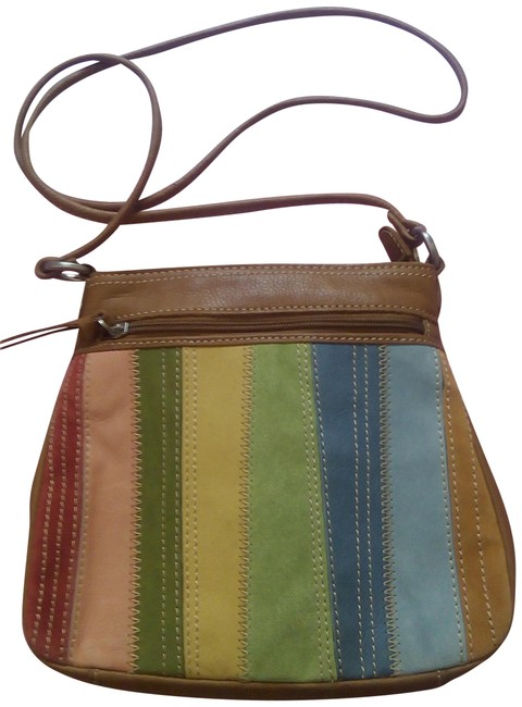 Item - Nwot Mix Pebble Suede Multi Color Leather Cross Body Bag