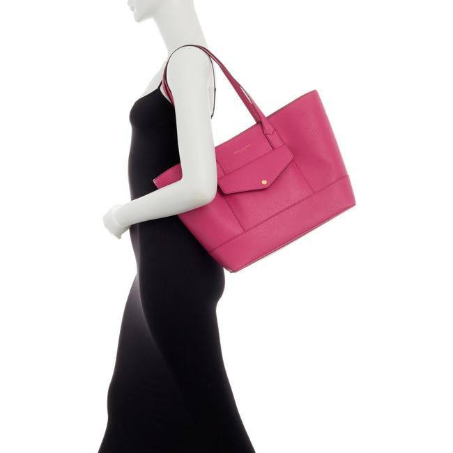 Item - Large Saffiano Pink Leather Tote