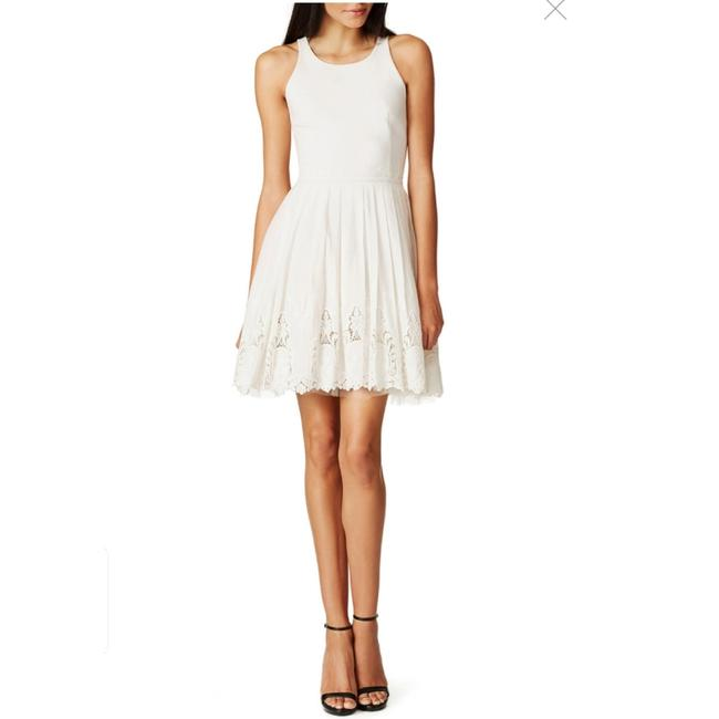 Item - White Clear Vision In Backless Short Casual Dress Size 6 (S)
