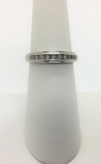 Other 14k White Gold Channel Set Diamond Wedding Anniversary Ring Band