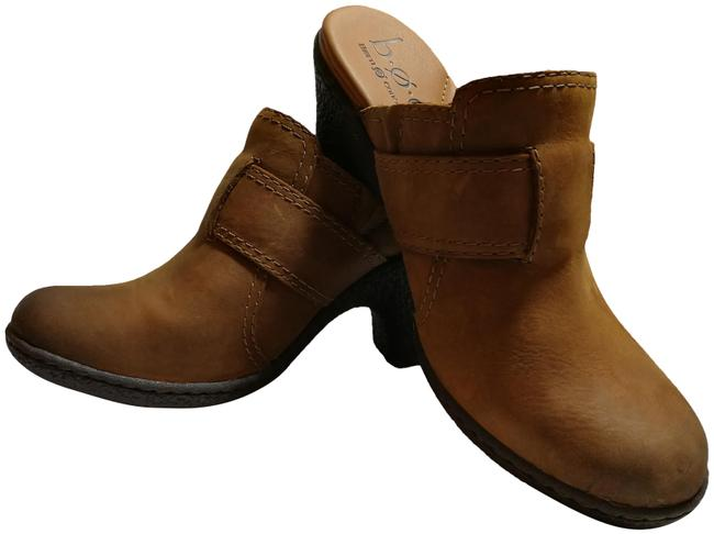 Item - Tan Leather Paired with Teak Textured Soles Mules/Slides Size US 7 Regular (M, B)