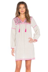 Ulla Johnson short dress Flax Mira Cream Pink on Tradesy