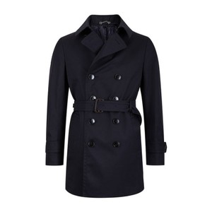 Gucci Dark Navy Blue Ink Classic Detachable Lining Trench Coat It 54 R / Us 44 #368214 Tuxedo
