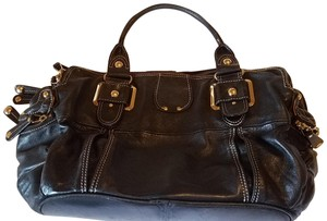 Hype Buttery Soft Leather Satchel in Black