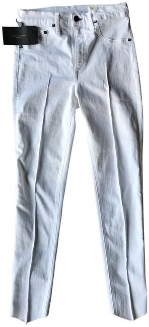 Item - White Light Wash And - High Rise Ankle In Manson. Skinny Jeans Size 27 (4, S)