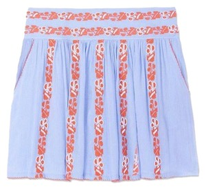 Tory Burch Mini Skirt Blue and Orange