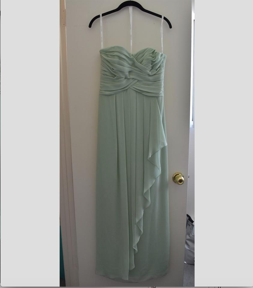 a901a3520b2 Strapless Crinkle Chiffon Bridesmaid Dress With Cascade Skirt Style W10840