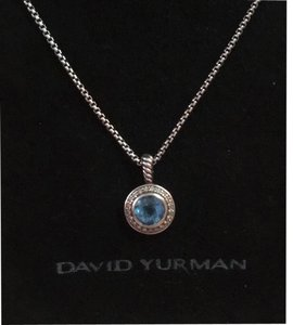 David Yurman David Yurman Silver Blue Sterling Diamond Petite Albion Pendant