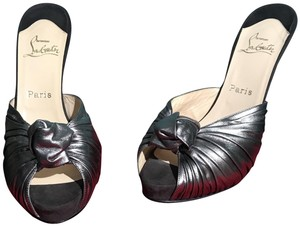 Christian Louboutin Sexy Cool Designer Fashion Italy Dark silver/Pewter Mules