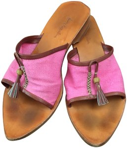 Henry Beguelin Brown and pink Sandals