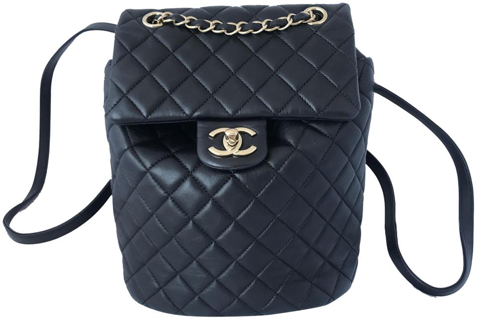 5df4312b19d2 Chanel Lambskin Quilted Small Urban Spirit Ghw Black Leather ...