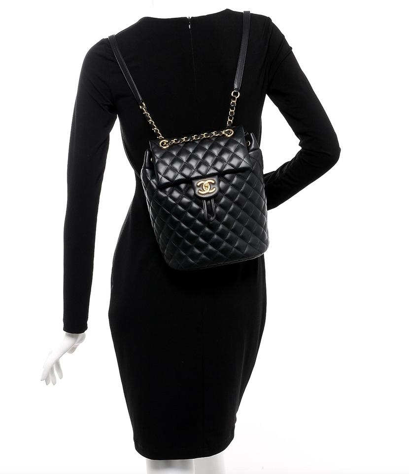 9e8e60b148e8 Chanel Lambskin Quilted Small Urban Spirit Ghw Black Leather ...