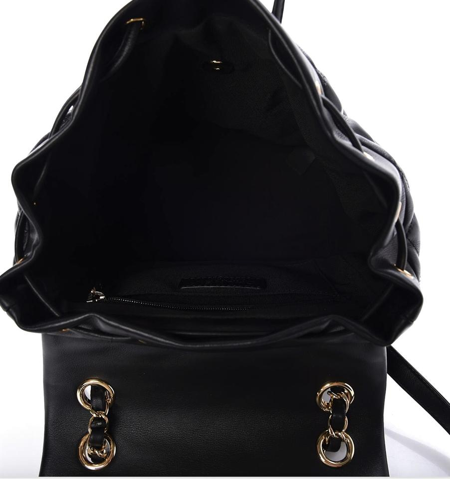 a3a6eb91b135 Chanel Lambskin Quilted Small Urban Spirit Ghw Black Leather Backpack -  Tradesy
