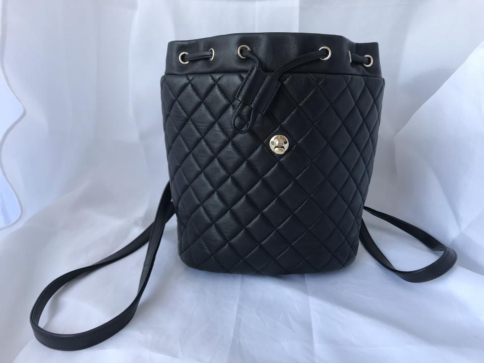 471e0d26bc22 Chanel Lambskin Quilted Small Urban Spirit Ghw Black Leather Backpack -  Tradesy
