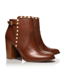 Tory Burch Ankle Leather Almond Brown Boots