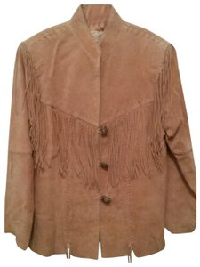 Scully Fringe Toggle Buttons tan Leather Jacket