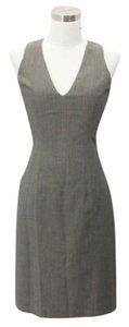 Donna Karan short dress Beige Black on Tradesy
