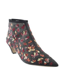 Dior Ankle Fabric Christian BlackxPink Boots