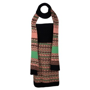 M Missoni Multicolor Merino Wool Fuzzy Strapless Dress and Muffler Set