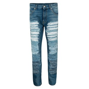 Alexander McQueen Denim Cotton Skinny Jeans-Light Wash