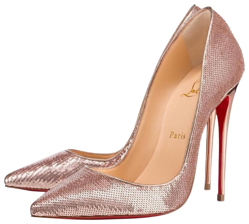 67a9f2d8713 Christian Louboutin Nude So Kate Rose Gold Sequin Stiletto Pumps Size EU  36.5 (Approx. US 6.5) Regular (M, B) 18% off retail