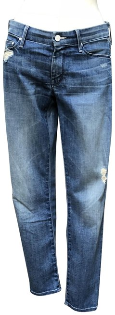 Item - Blue Distressed The Looker Crop Capri/Cropped Jeans Size 27 (4, S)