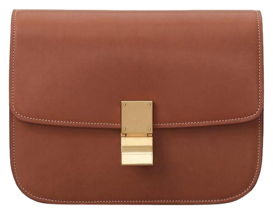 Céline Medium Classic In Natural Calfskin Tan Leather Shoulder Bag ... d673bd31d54e5