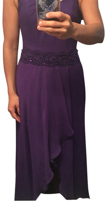 Item - Purple Bridesmaid Long Formal Dress Size 6 (S)